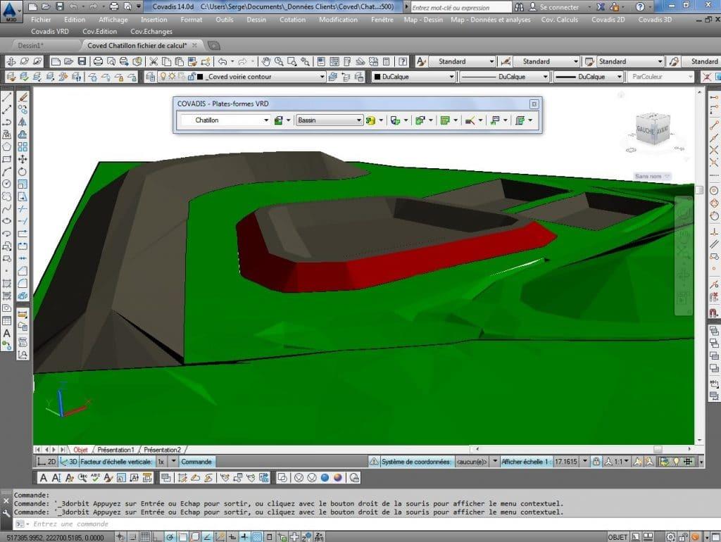 Modélisation Covadis 3D