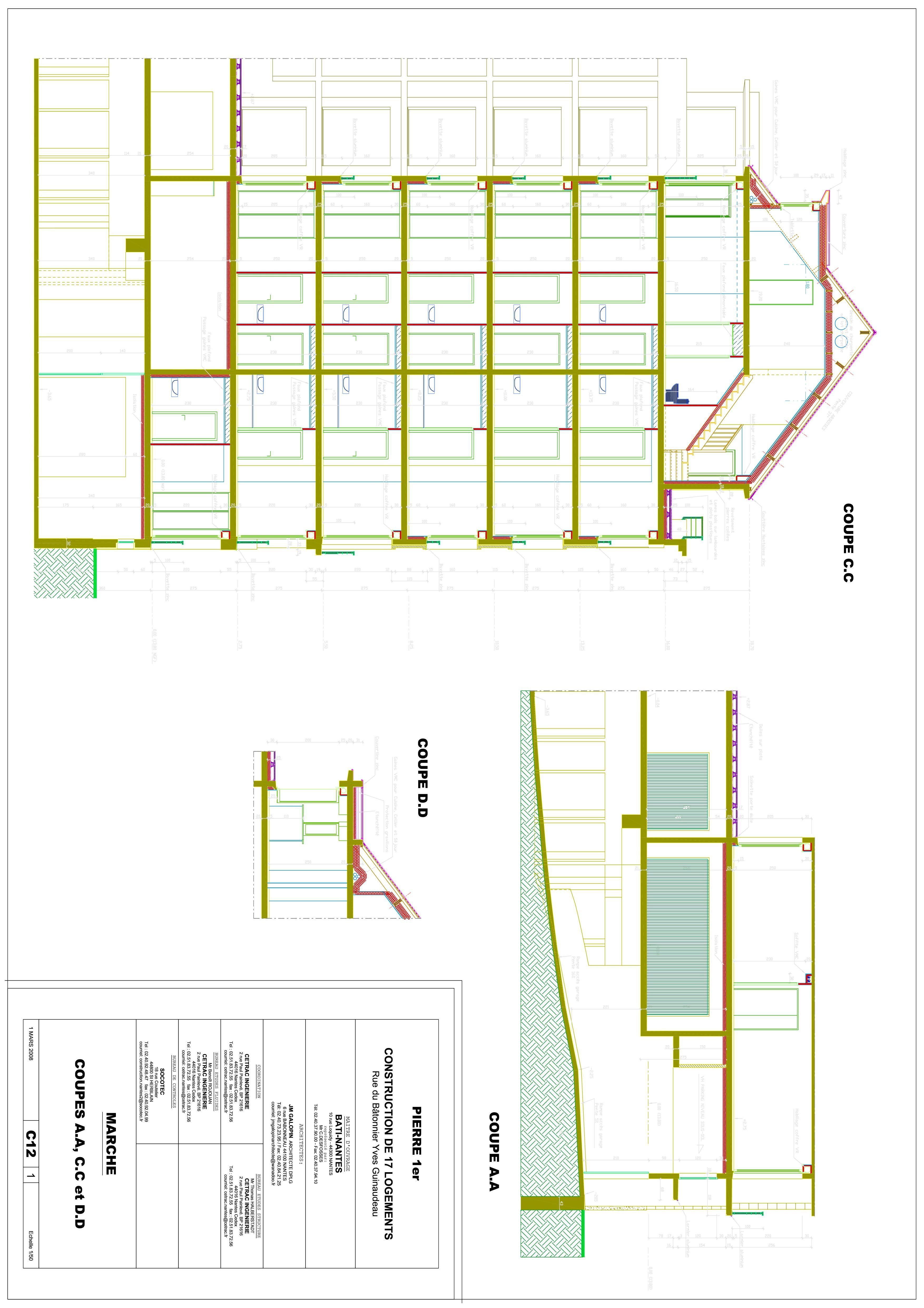 Dessin AutoCAD bâtiment  2D